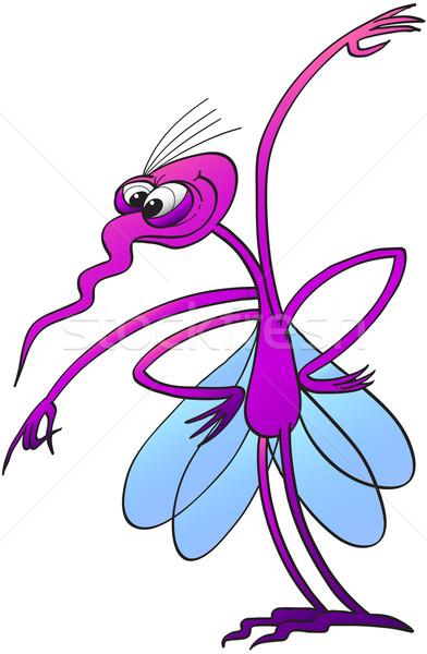 Zanzara attaccare divertente occhi quattro Foto d'archivio © zooco