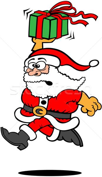 Mikulás karácsony ajándék fut gyors gond Stock fotó © zooco