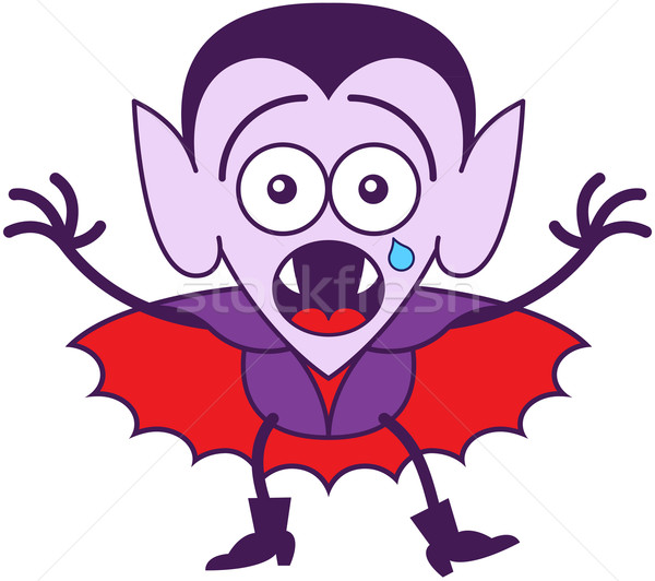 Halloween Dracula feeling scared Stock photo © zooco