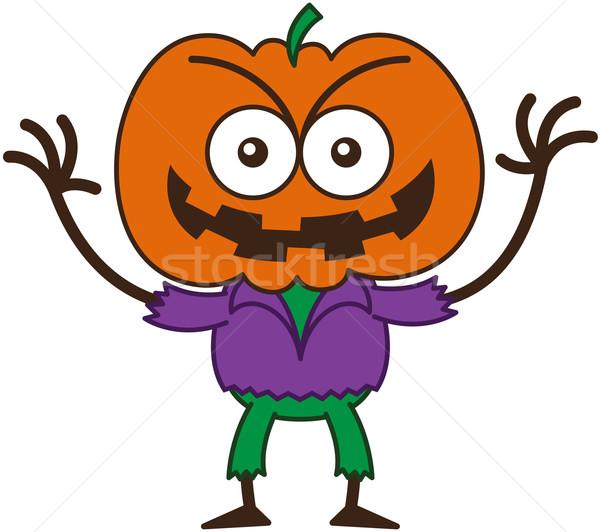 ハロウィン かかし 笑みを浮かべて ビッグ ストックフォト © zooco