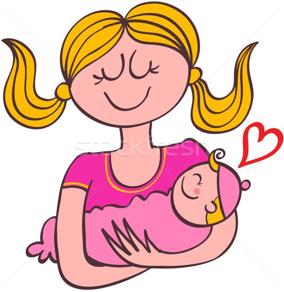Zoete moeder gelukkig blond Stockfoto © zooco