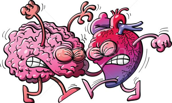中心 対 脳 人間 ストックフォト © zooco