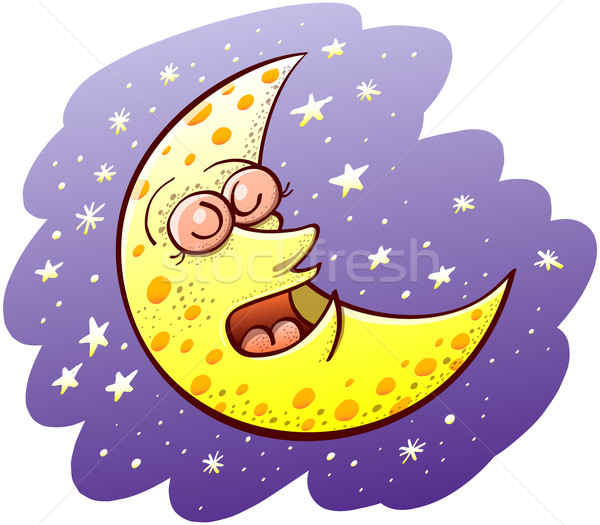 美しい 月 寝 いい 黄色 ワックスがけ ストックフォト © zooco