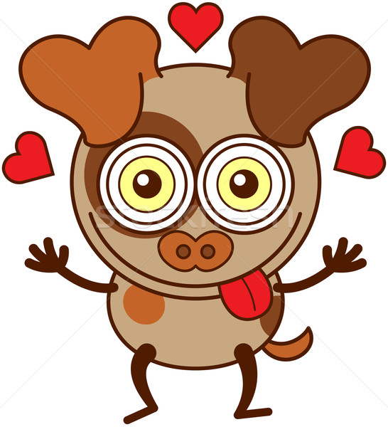 мало коричневая собака чувство любви Cute собака Сток-фото © zooco
