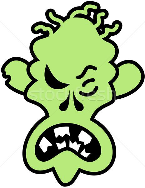 Boos halloween zombie scary groene Stockfoto © zooco