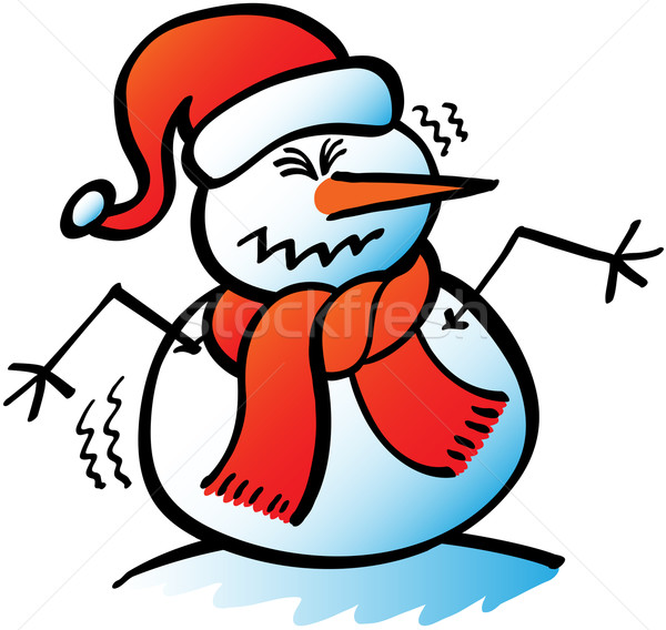 Christmas snowman in trouble Stock photo © zooco