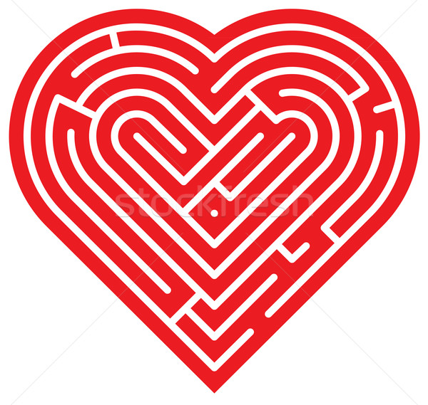 Heart shaped labyrinth Stock photo © zooco