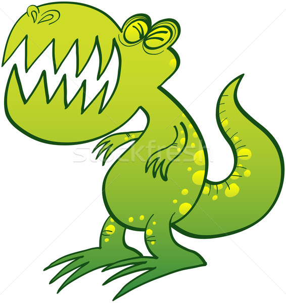 Cute Tyrannosaurus Rex groaning angrily Stock photo © zooco