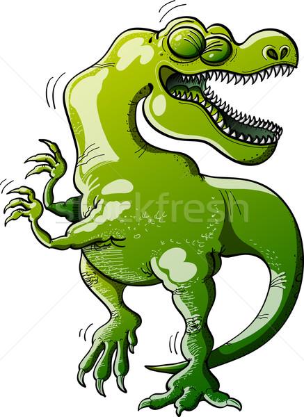 Tyrannosaurus Rex Dancing Enthusiastically Stock photo © zooco