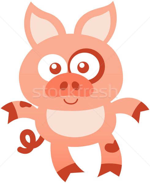 Nice baby pig posing and smiling mischievously Stock photo © zooco