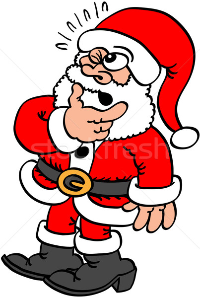 Doubtful Santa Claus Stock photo © zooco
