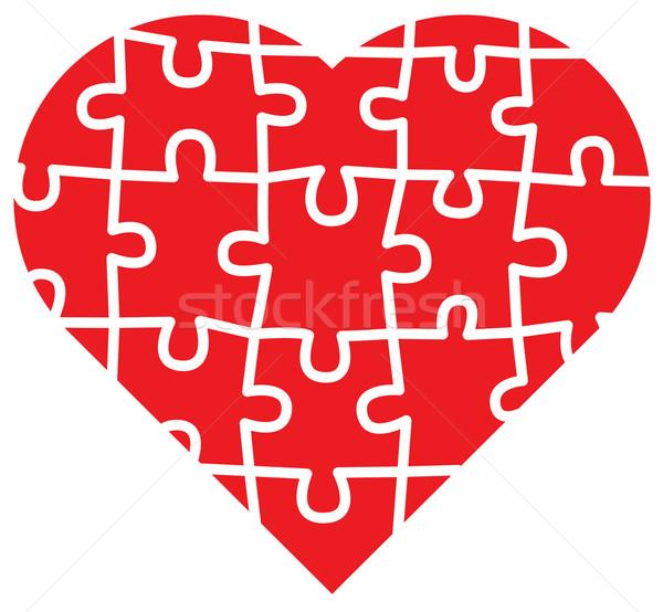 Stockfoto: Liefde · alle · stukken · samen · groot