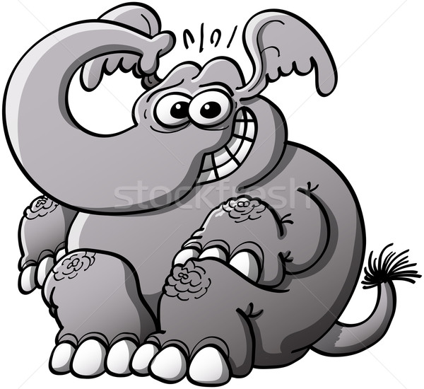 Shy elephant grinning Stock photo © zooco