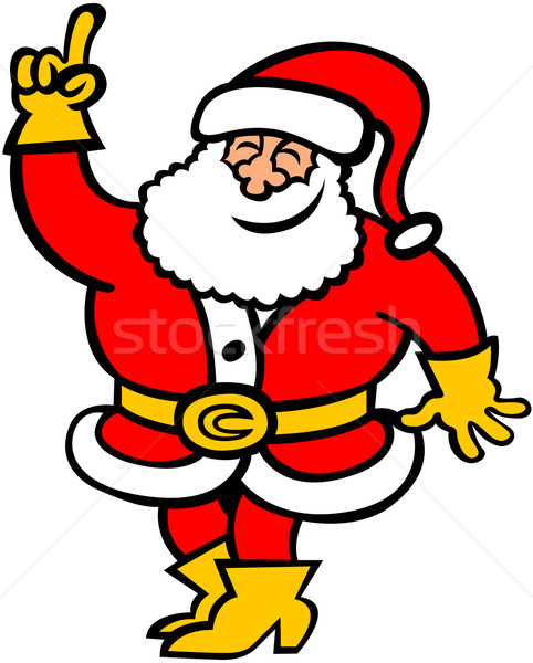 Gentle Santa Claus rising his hand to give an opinion Stock photo © zooco