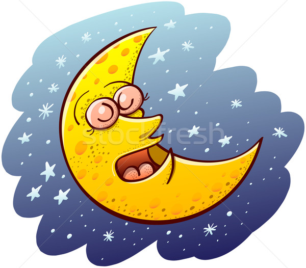 Cool moon sleeping Stock photo © zooco