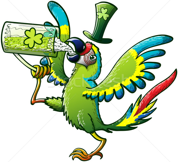Saint Paddy's Day Macaw Stock photo © zooco