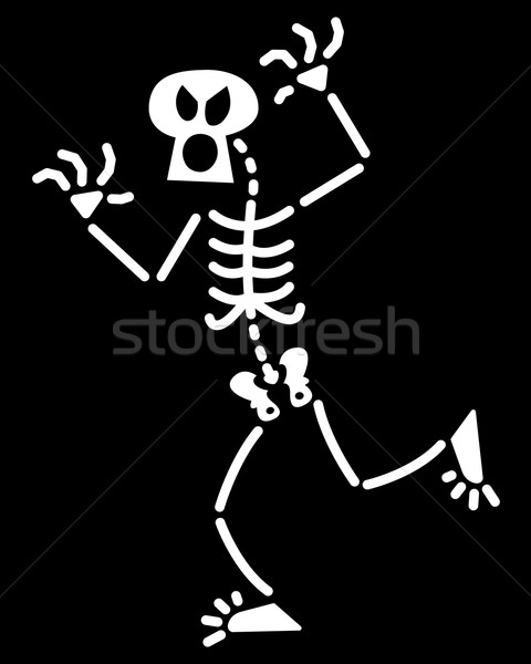 Хэллоуин скелет испуг смешные оружия Сток-фото © zooco