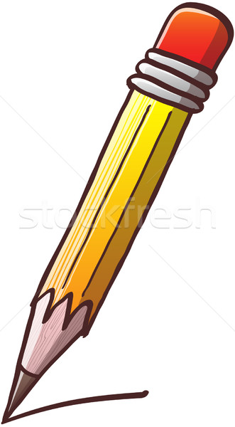 Lápis desenho amarelo vermelho apagador Foto stock © zooco