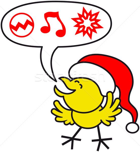 Bom amarelo frango natal Foto stock © zooco