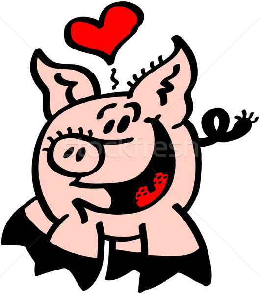 Pig in Love Stock photo © zooco