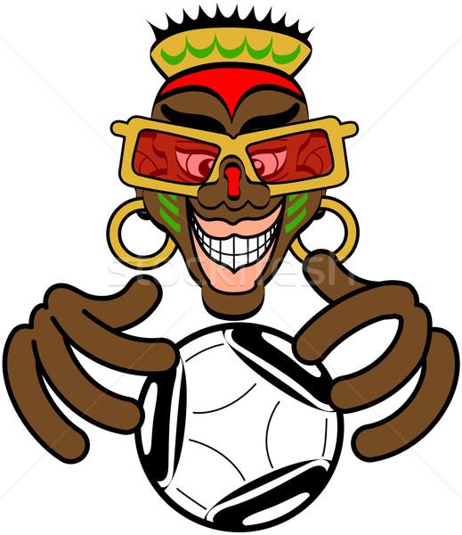 Jövő futball szép afrikai festett arc Stock fotó © zooco