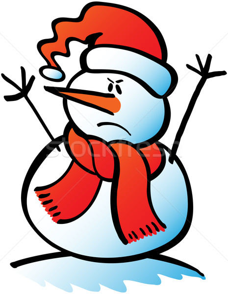 Angry Christmas snowman Stock photo © zooco