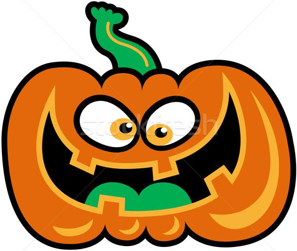 Nevet halloween tök gonosz narancs sütőtök bámul Stock fotó © zooco