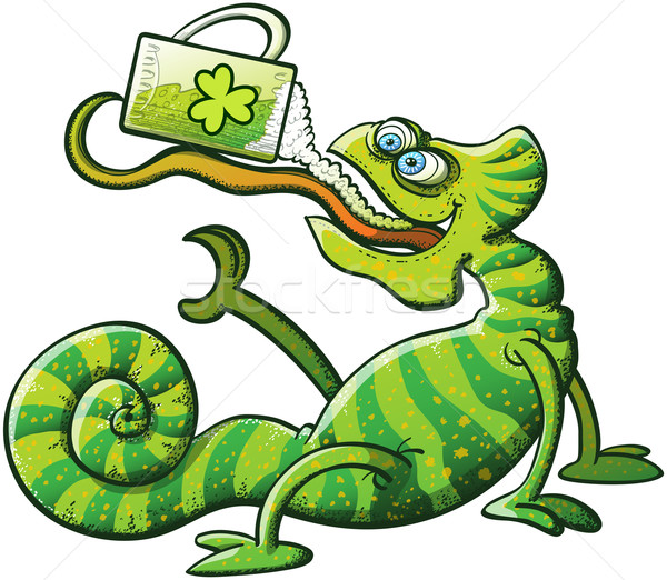 Saint Patrick's Day Chameleon Stock photo © zooco