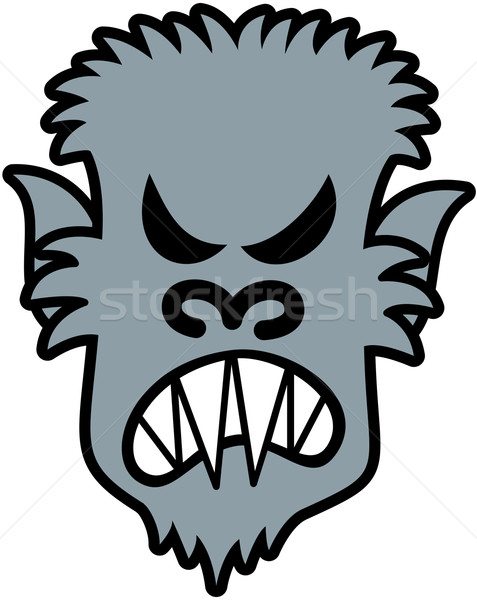 Furious Halloween werewolf Stock photo © zooco