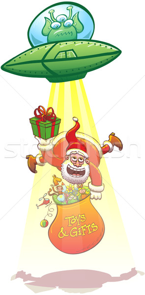 Santa Claus abducted by an angry alien Stock photo © zooco