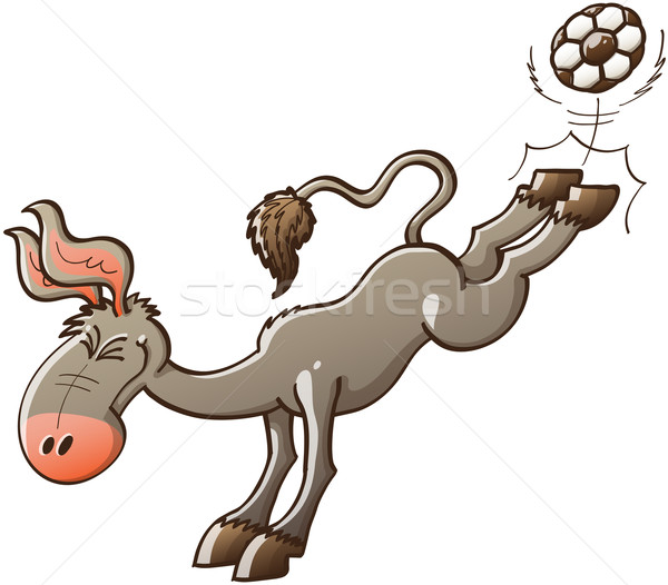Donkey playing soccer Stock photo © zooco