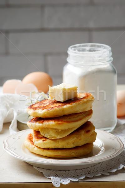 Homemade Pancake Mix in the jar.style rustic  Stock photo © zoryanchik