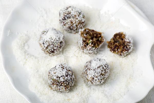 healthy homemade risins truffle Stock photo © zoryanchik