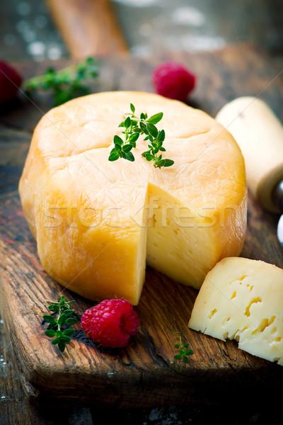Kecskesajt stílus klasszikus szelektív fókusz étel asztal Stock fotó © zoryanchik