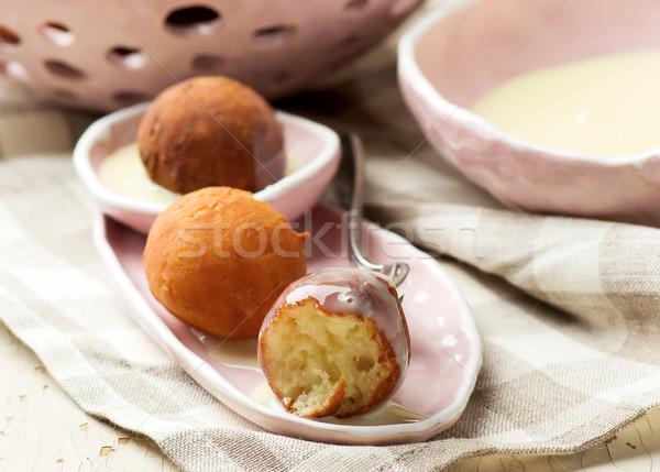 Quick Ricotta Doughnuts Stock photo © zoryanchik
