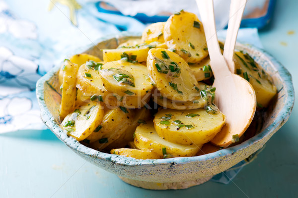 Hot Potato Salad with Scallion Vinaigrette Stock photo © zoryanchik