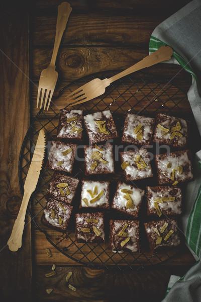 Plastry imbir chłodzenie stylu vintage selektywne focus Zdjęcia stock © zoryanchik