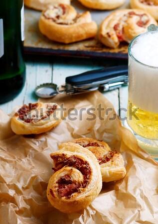 全粒小麦 ブラッドオレンジ オリーブオイル 乳房 食品 デザート ストックフォト © zoryanchik
