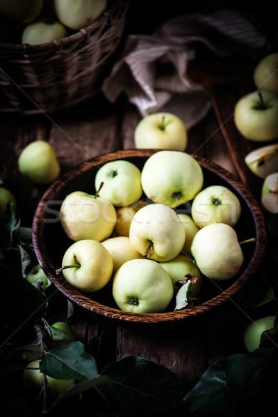 Lata martwa natura jabłka stylu selektywne focus Zdjęcia stock © zoryanchik