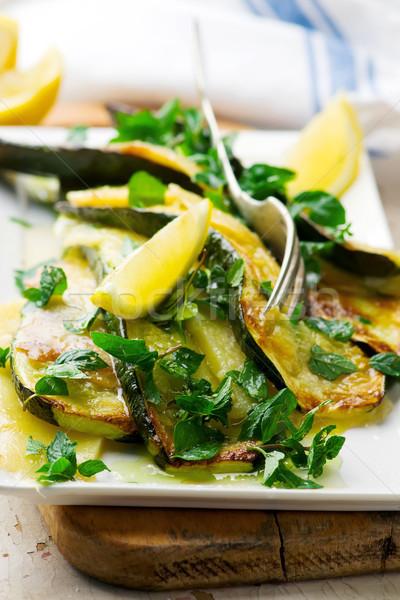 Grillés été squash fromages citron menthe Photo stock © zoryanchik
