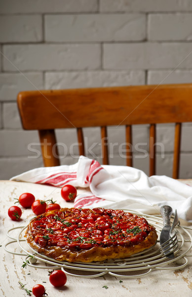 tomato tarte tatin.style rustic. Stock photo © zoryanchik