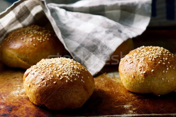 自家製 ソフト 全粒小麦 ハンバーガー スタイル 素朴な ストックフォト © zoryanchik