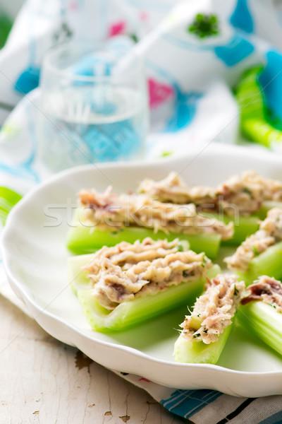 Zeller füstölt makréla étel buli eszik Stock fotó © zoryanchik