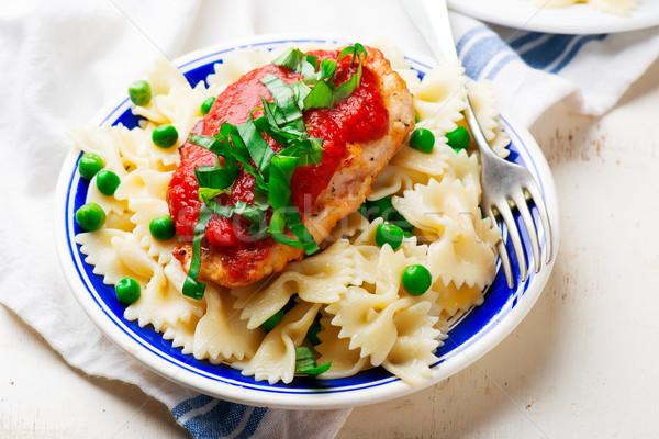 Chicken Cutlets in Pizzaiola Sauce. Stock photo © zoryanchik