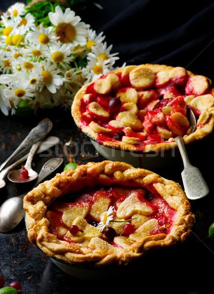Stok fotoğraf: Turta · karanlık · fotoğraf · gıda · tatlı · meyve