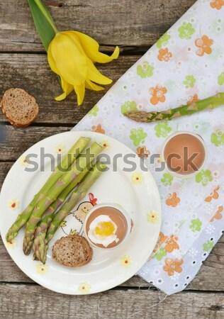 卵 アボカド トースト パン 鮭 ストックフォト © zoryanchik
