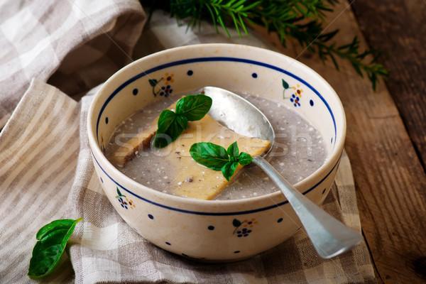Vad gombák leves étel vacsora krém Stock fotó © zoryanchik