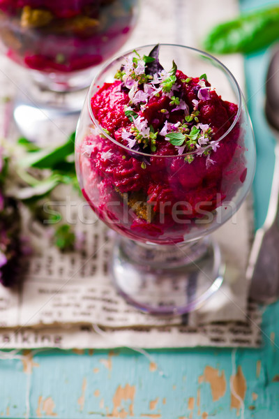 beet appetizer  from  in the verrines  Stock photo © zoryanchik