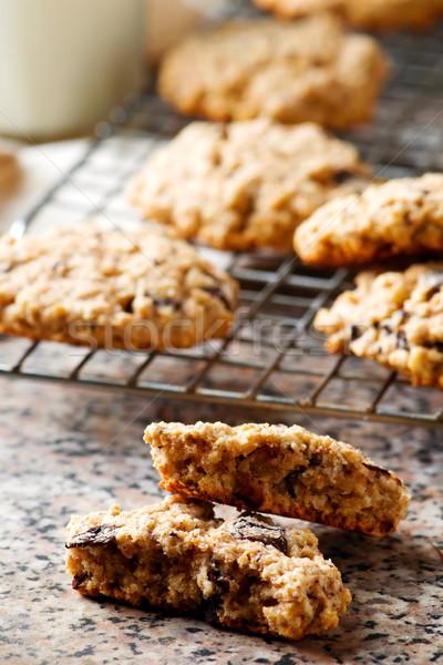 oatmeal chocolate chip cookies.style rustic Stock photo © zoryanchik