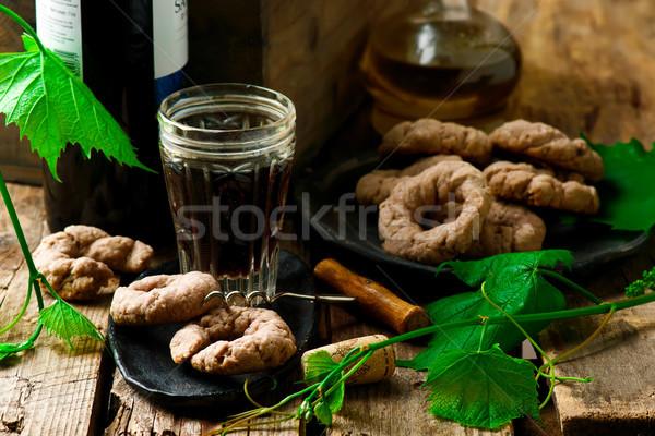 biscotti di vino.style rustic. Stock photo © zoryanchik